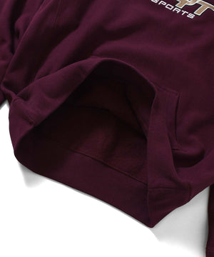 LFYT SPORTS LOGO PULLOVER HOODIE LS210502 BURGUNDY