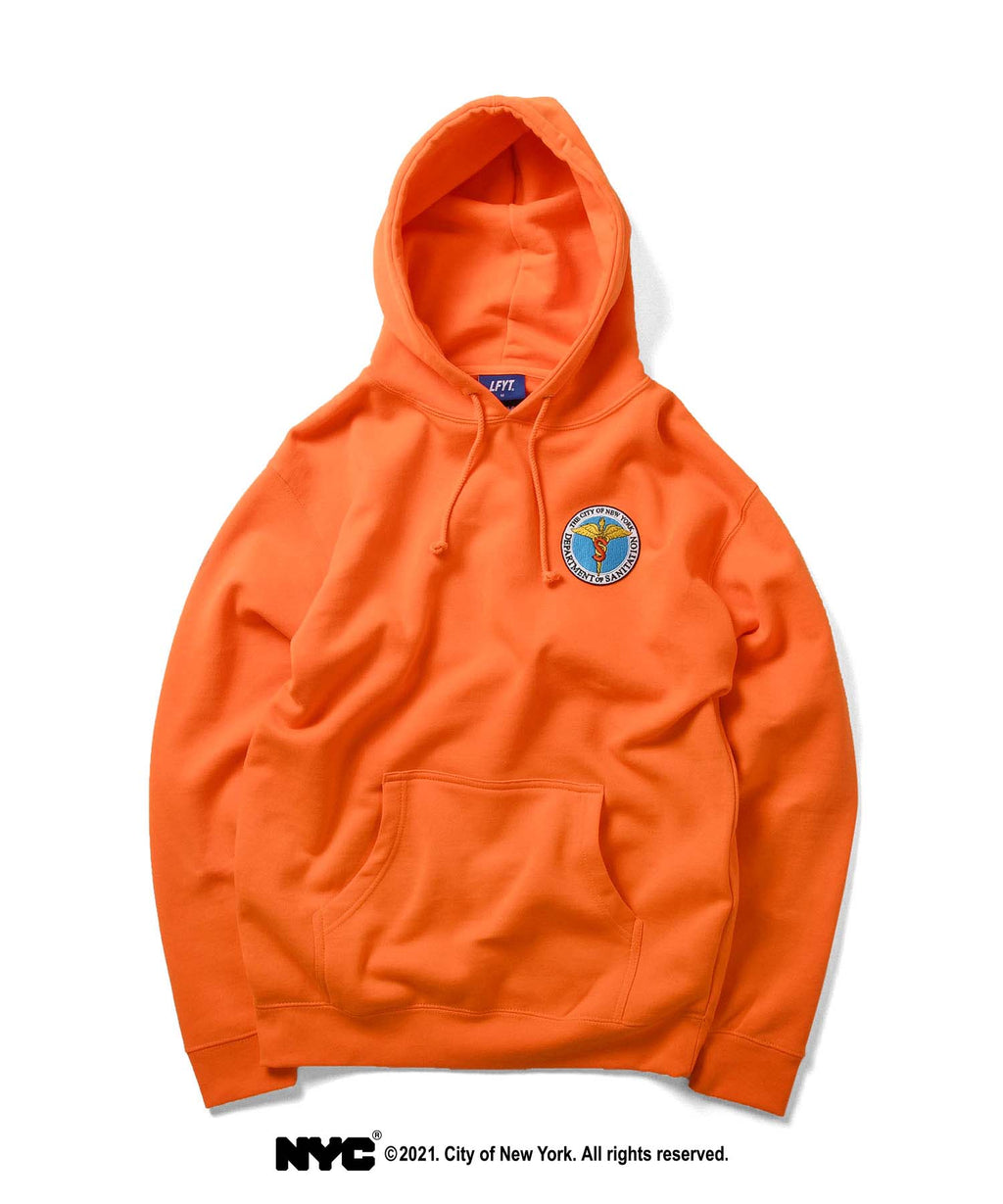 LFYT X DSNY COMMUNITY SERVICES PULLOVER HOODIE LS210503 ORANGE