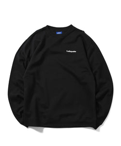 BIG APPLE CREWNECK SWEATSHIRT BLACK LA200701