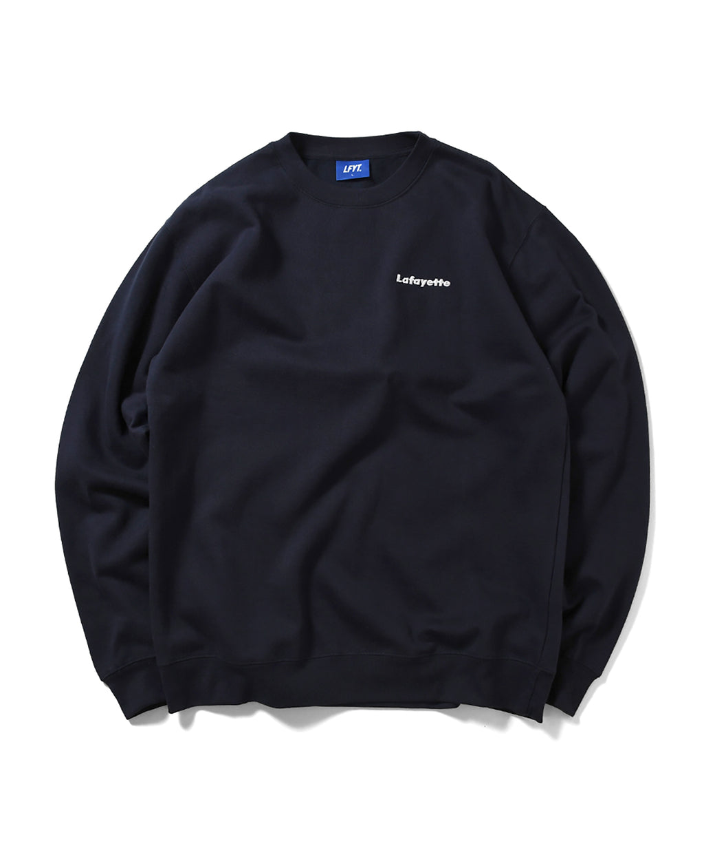 BIG APPLE CREWNECK SWEATSHIRT NAVY LA200701