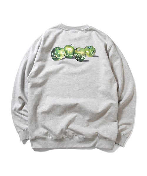 BIG APPLE CREWNECK SWEATSHIRT HEATHER GRAY LA200701