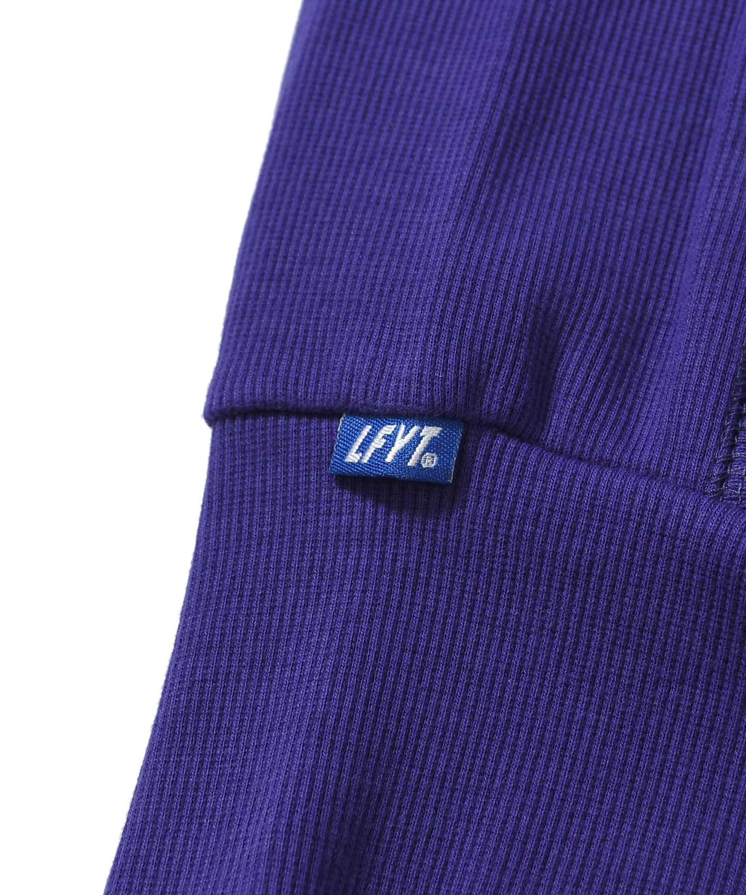 TONAL LOGO US COTTON CREWNECK SWEATSHIRT PURPLE LA200702