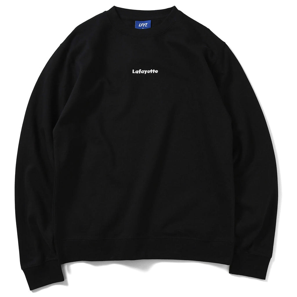 SMALL LOGO CREWNECK SWEATSHIRT LA200705  BLACK