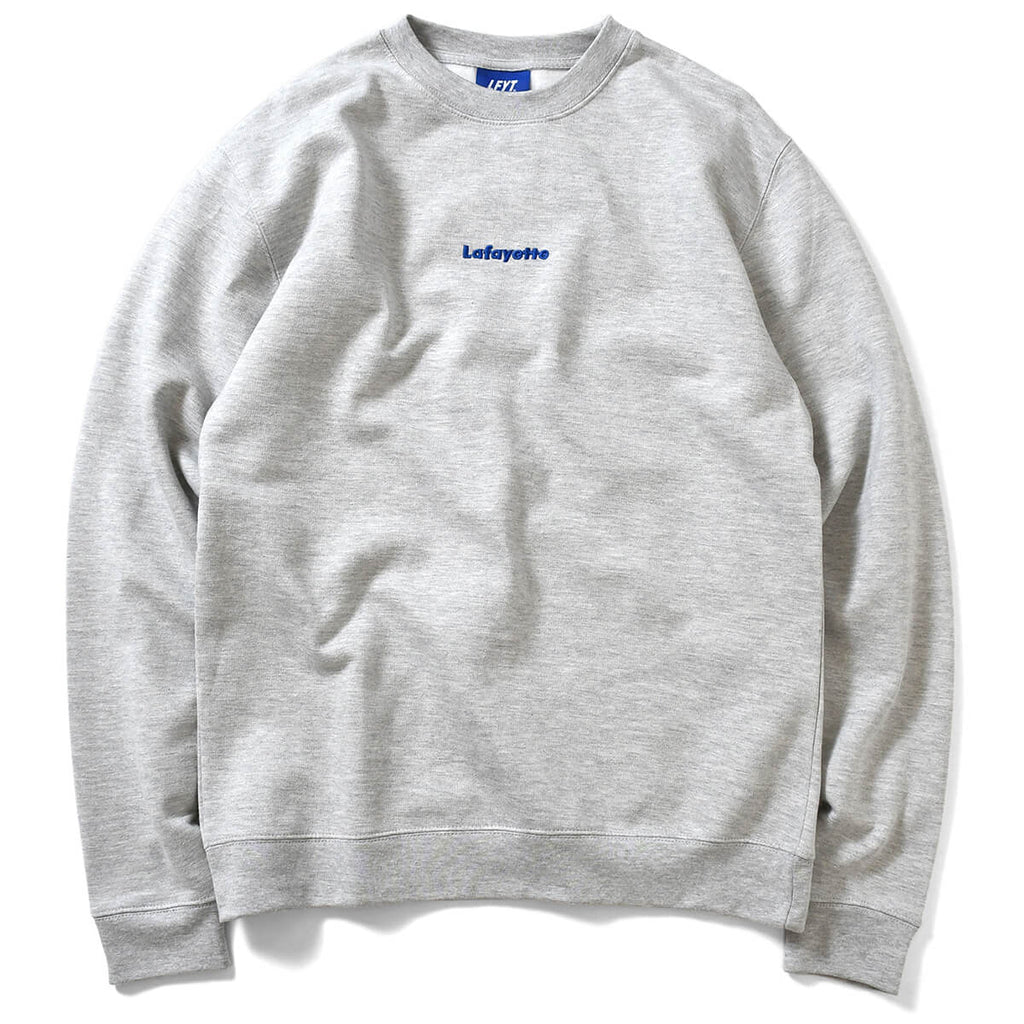 SMALL LOGO CREWNECK SWEATSHIRT HEATHER LA200705 GRAY
