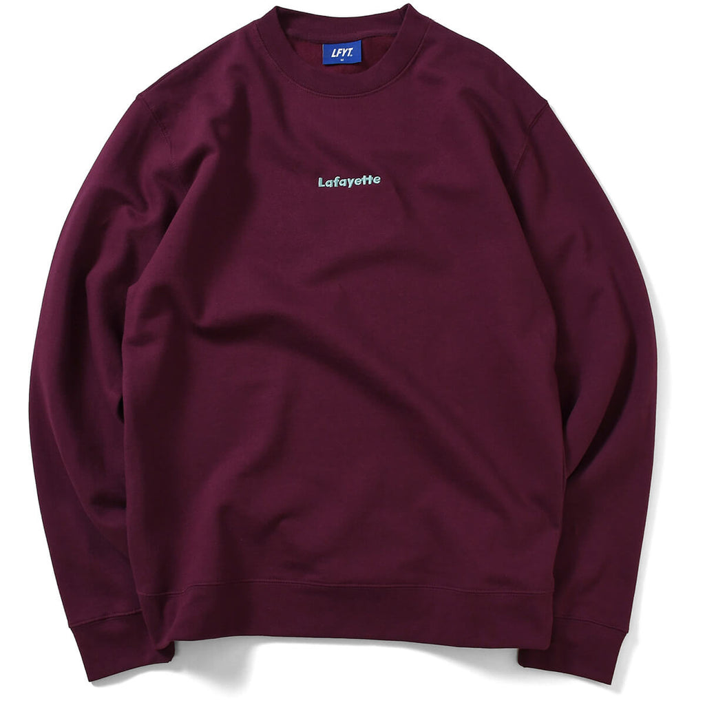SMALL LOGO CREWNECK SWEATSHIRT LA200705  BURGUNDY