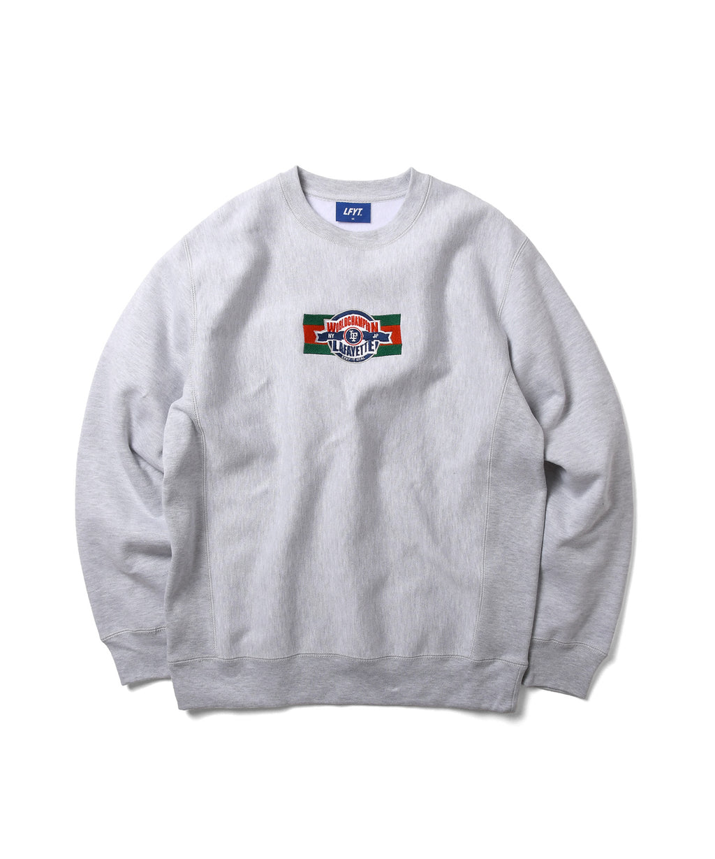 LF CHAMPION EMBLEM LOGO CREWNECK SWEATSHIRT LS210701 HEATHER GRAY