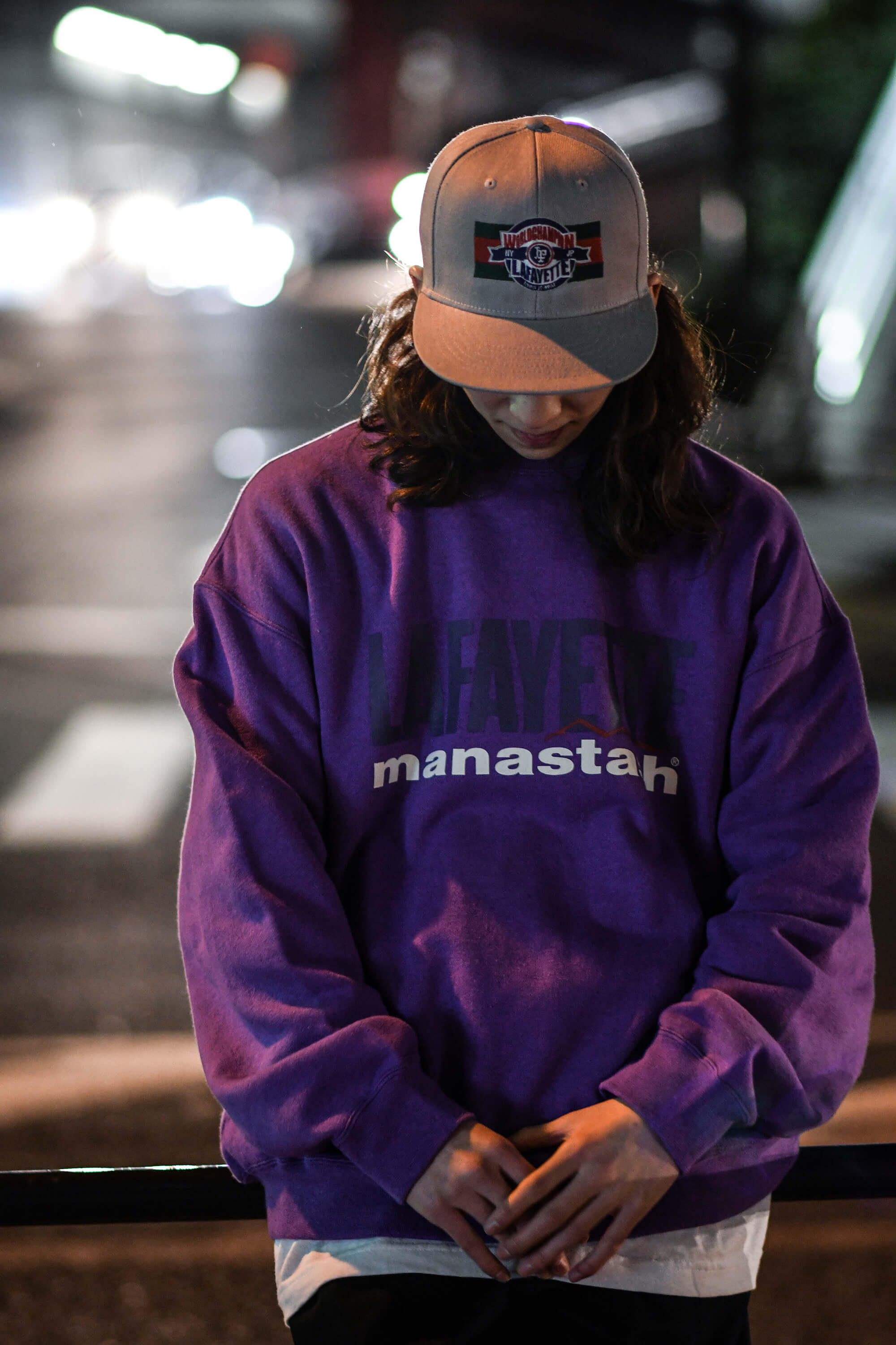 LFYT X MANASTASH HEMP COTTON CREW SWEATSHIRT LE210701 LAVENDER