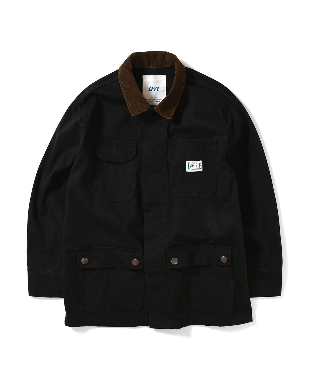 WORKERS DUCK COVERALL JACKET LA201005 BLACK