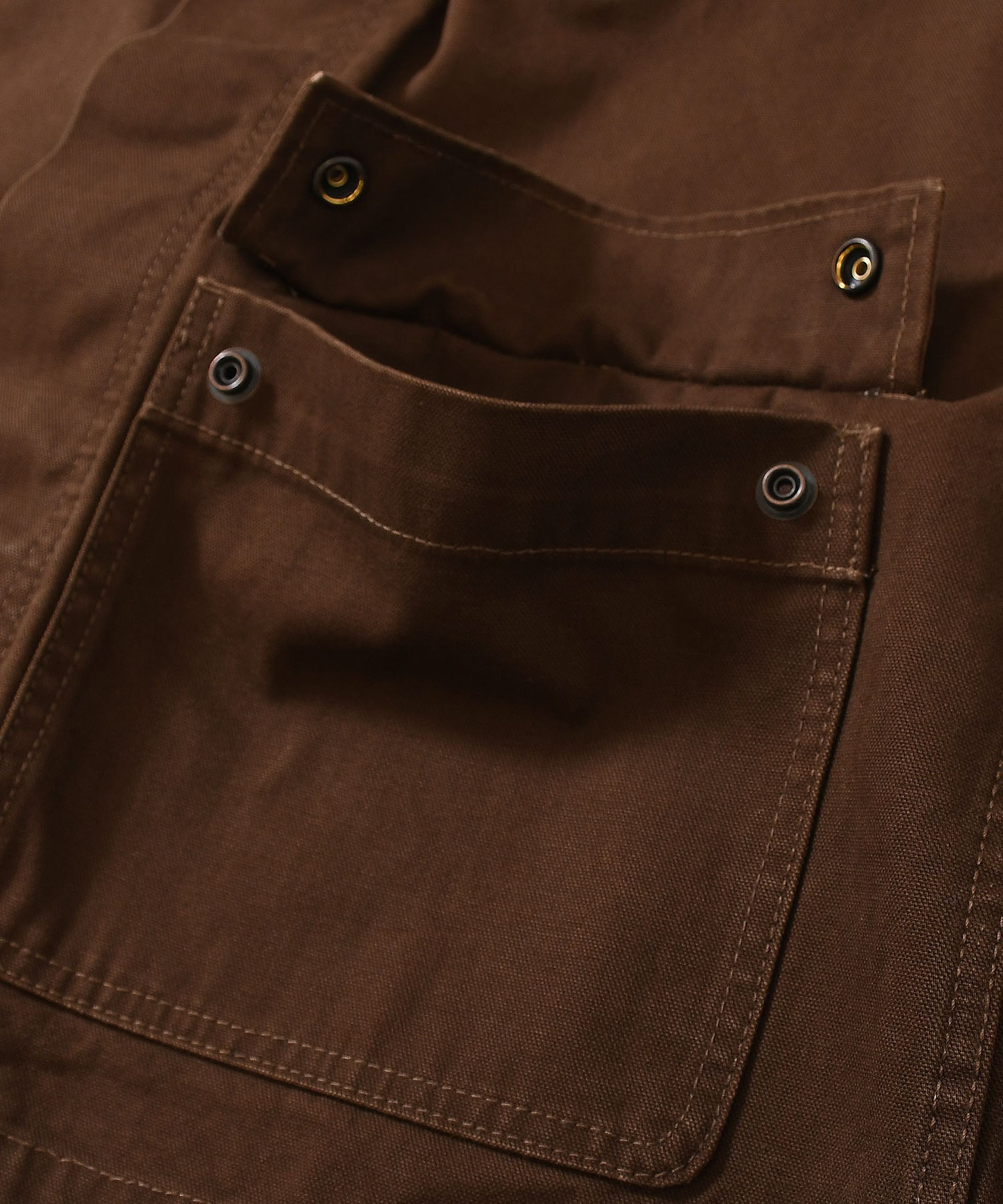 WORKERS DUCK COVERALL JACKET LA201005 BROWN