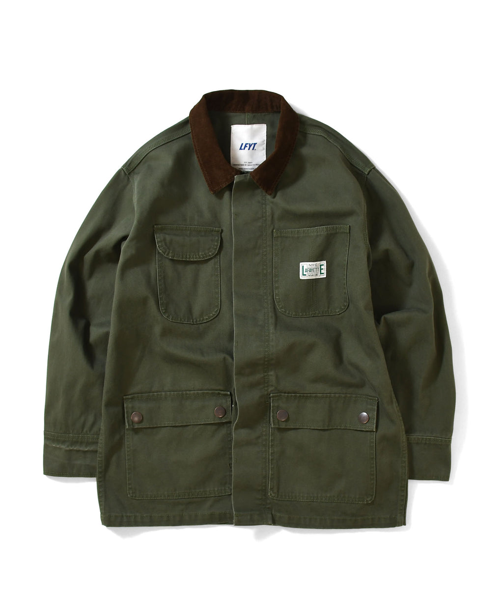 WORKERS DUCK COVERALL JACKET LA201005 GREEN