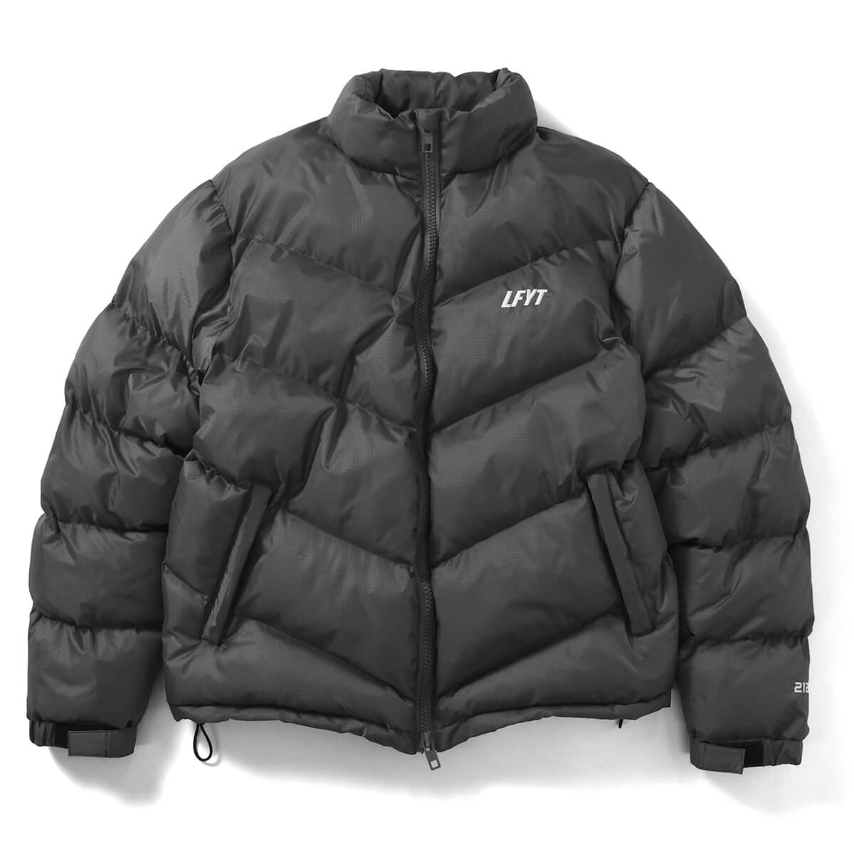 DIAGONAL PUFFER JACKET GRAY LA201010