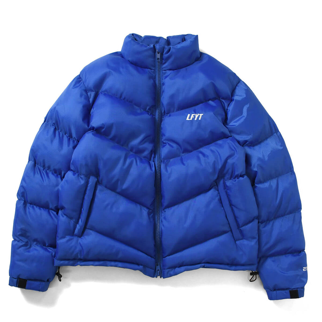 DIAGONAL PUFFER JACKET BLUE LA201010