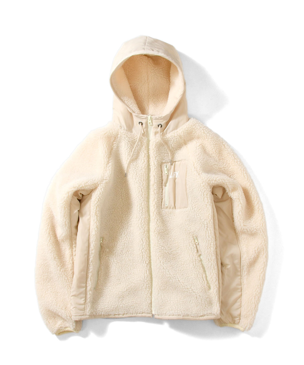 SHERPA FLEECE ZIP PARKA LA201012 NATURAL
