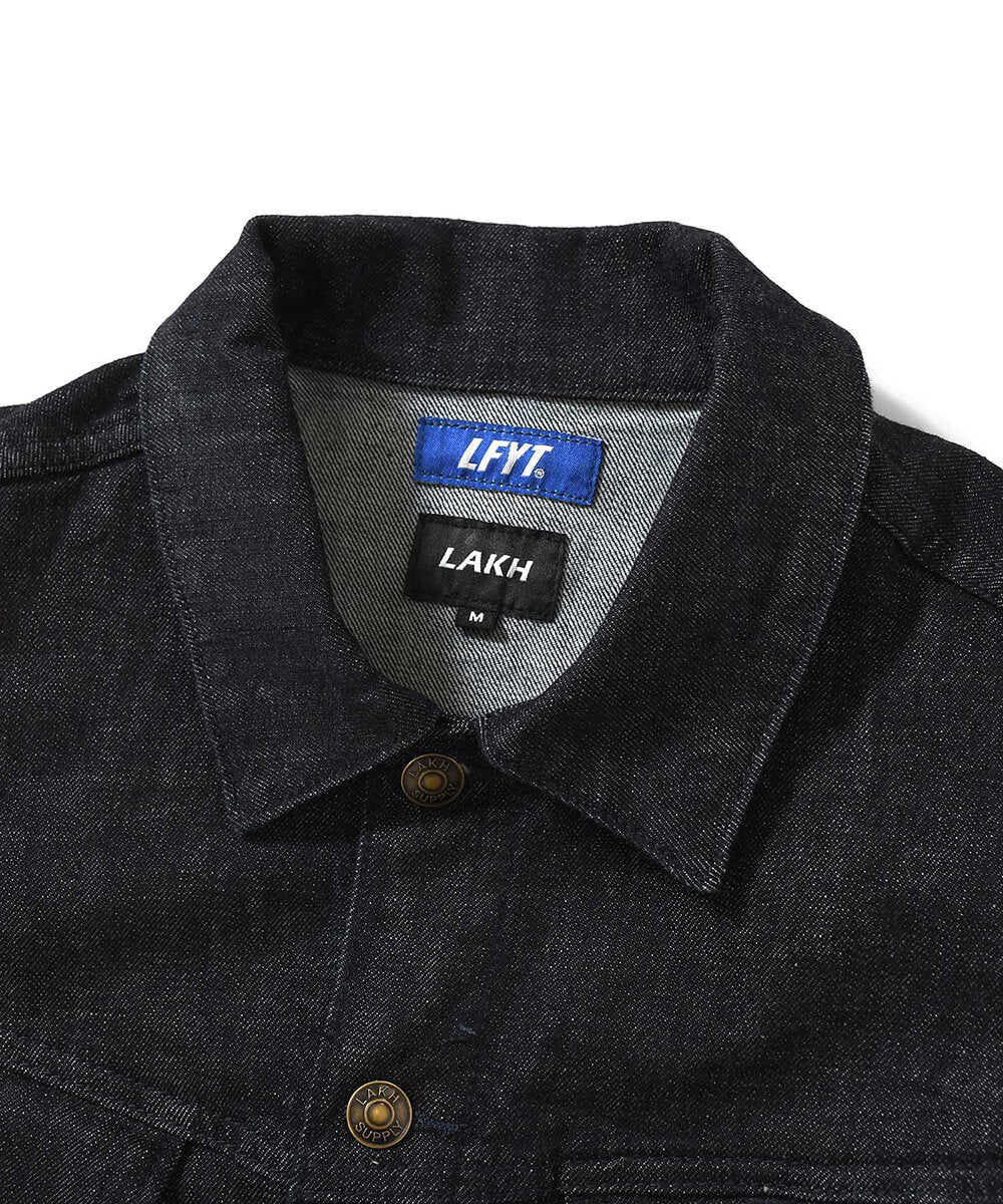 LFYT X LAKH 10 POCKETS DENIM JACKET LE201006 NAVY