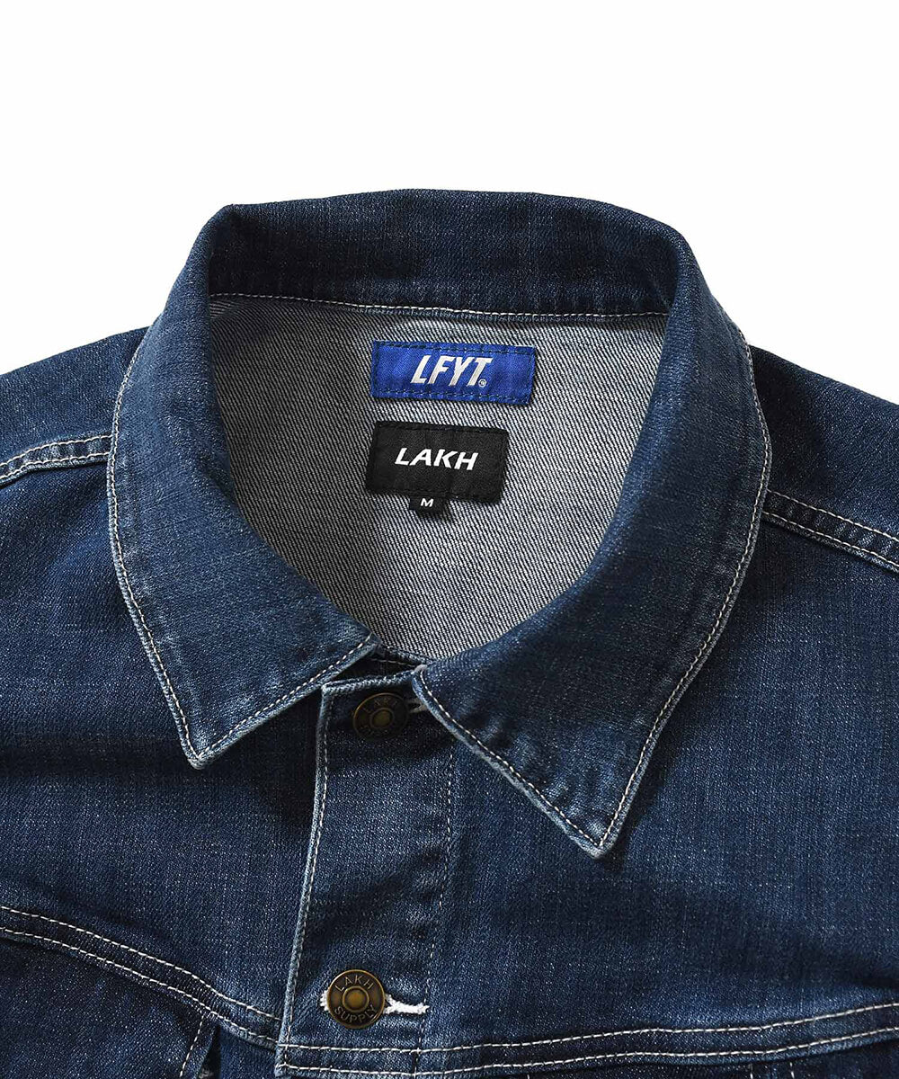 LFYT X LAKH 10 POCKETS DENIM JACKET LE201006 BLUE