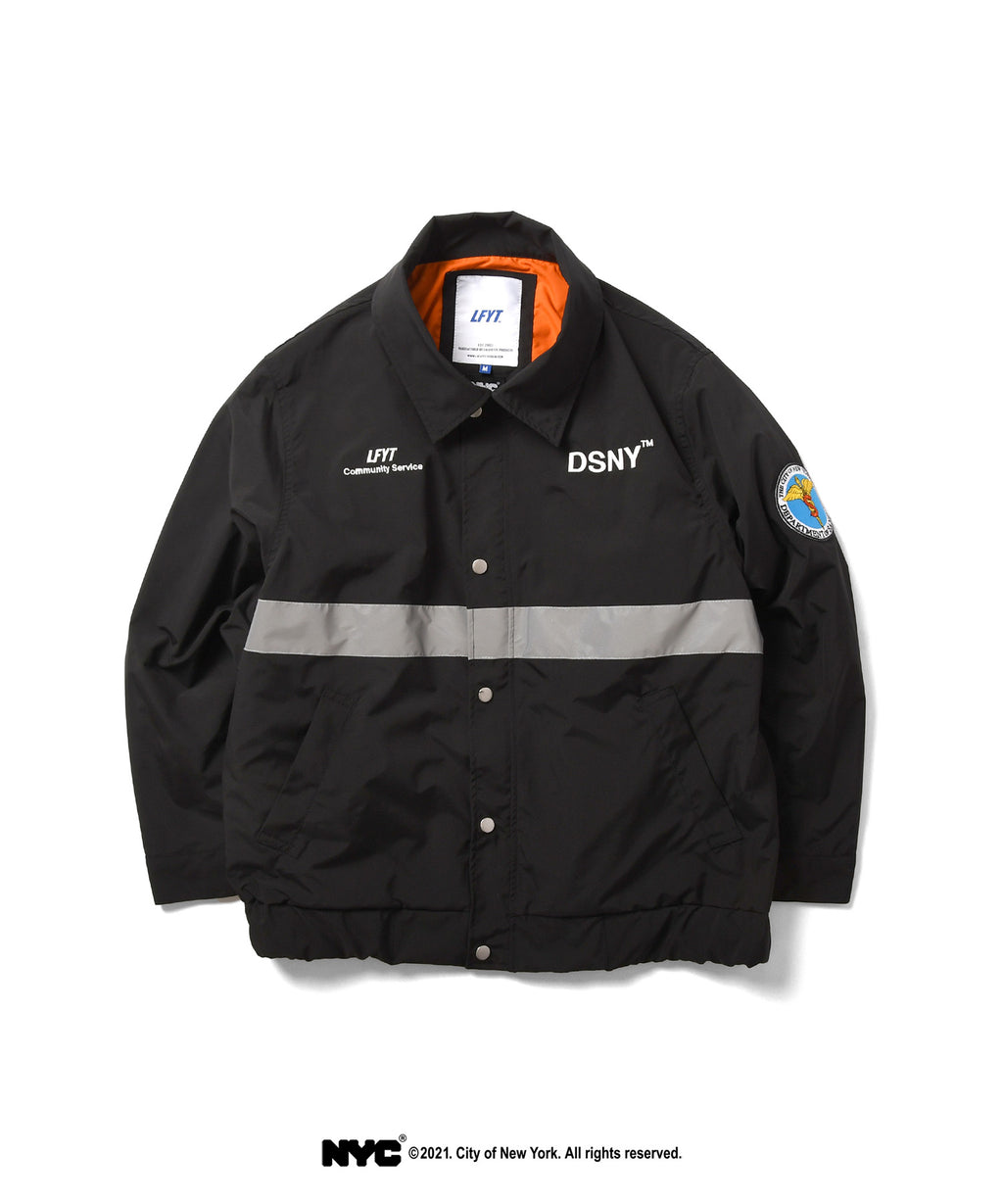 LFYT X DSNY COMMUNITY SERVICES WORKER JACKET LS211003 BLACK