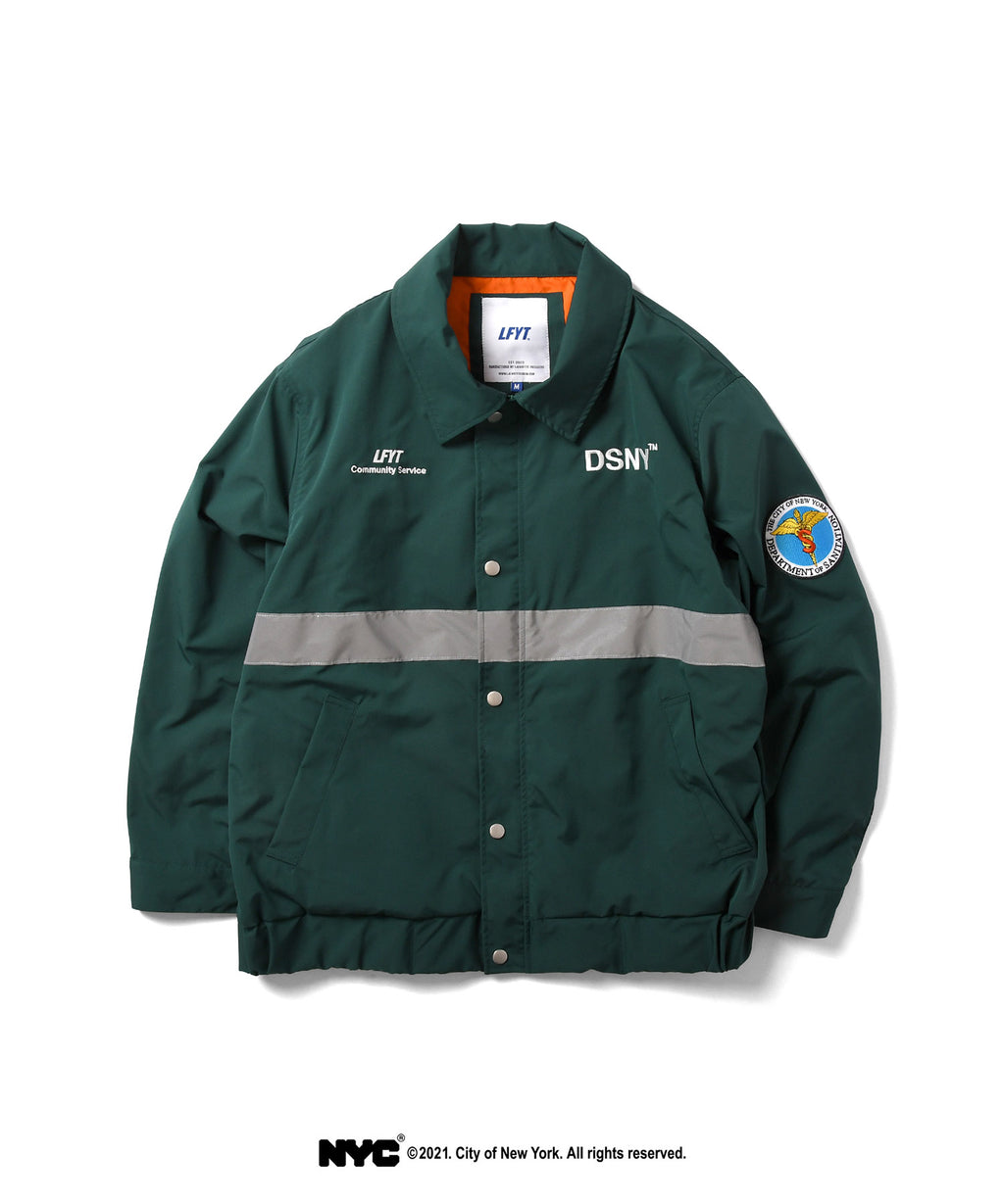 LFYT X DSNY COMMUNITY SERVICES WORKER JACKET LS211003 DARK GREEN
