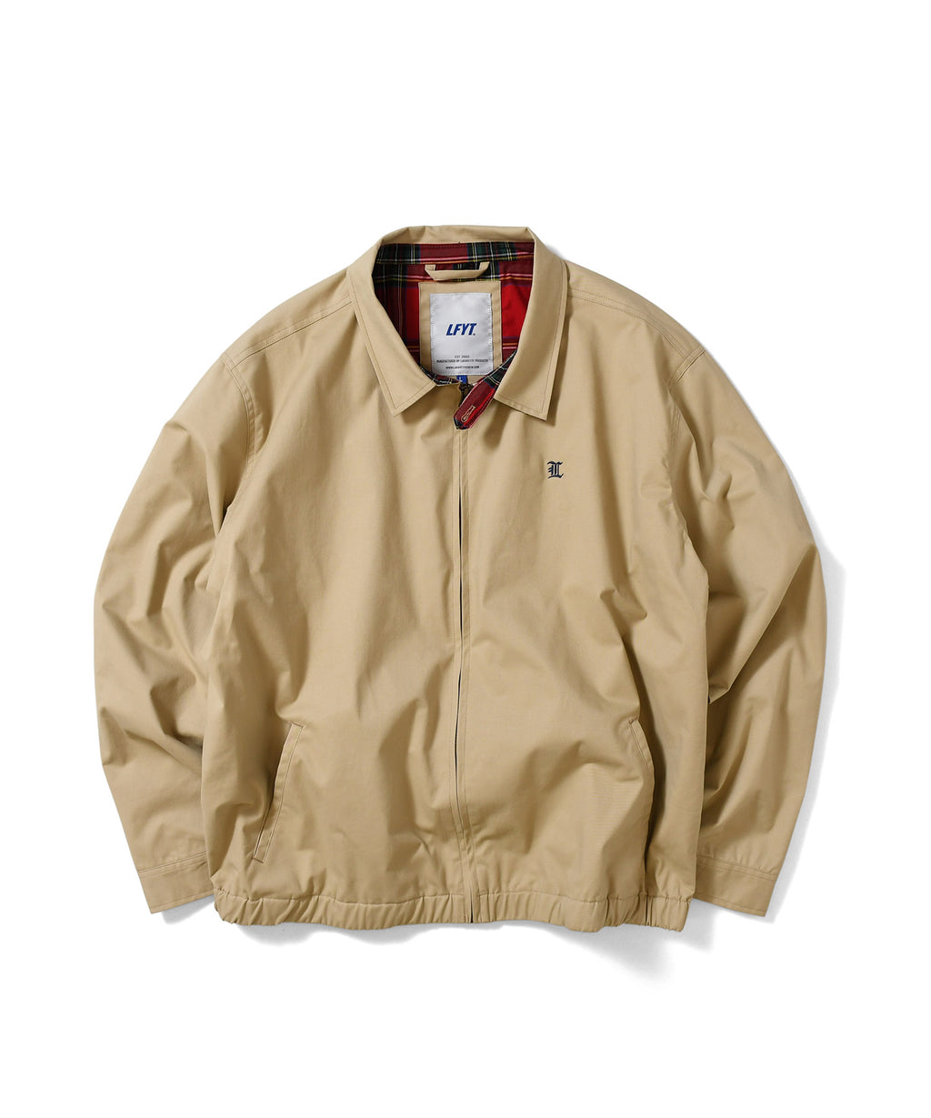 L LOGO COTTON WINDBREAKER LS211004 BEIGE