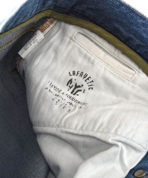 Lafayette 5 POCKET WASHED DENIM PANTS BAGGIE FIT LS201105 LIGHT BLUE