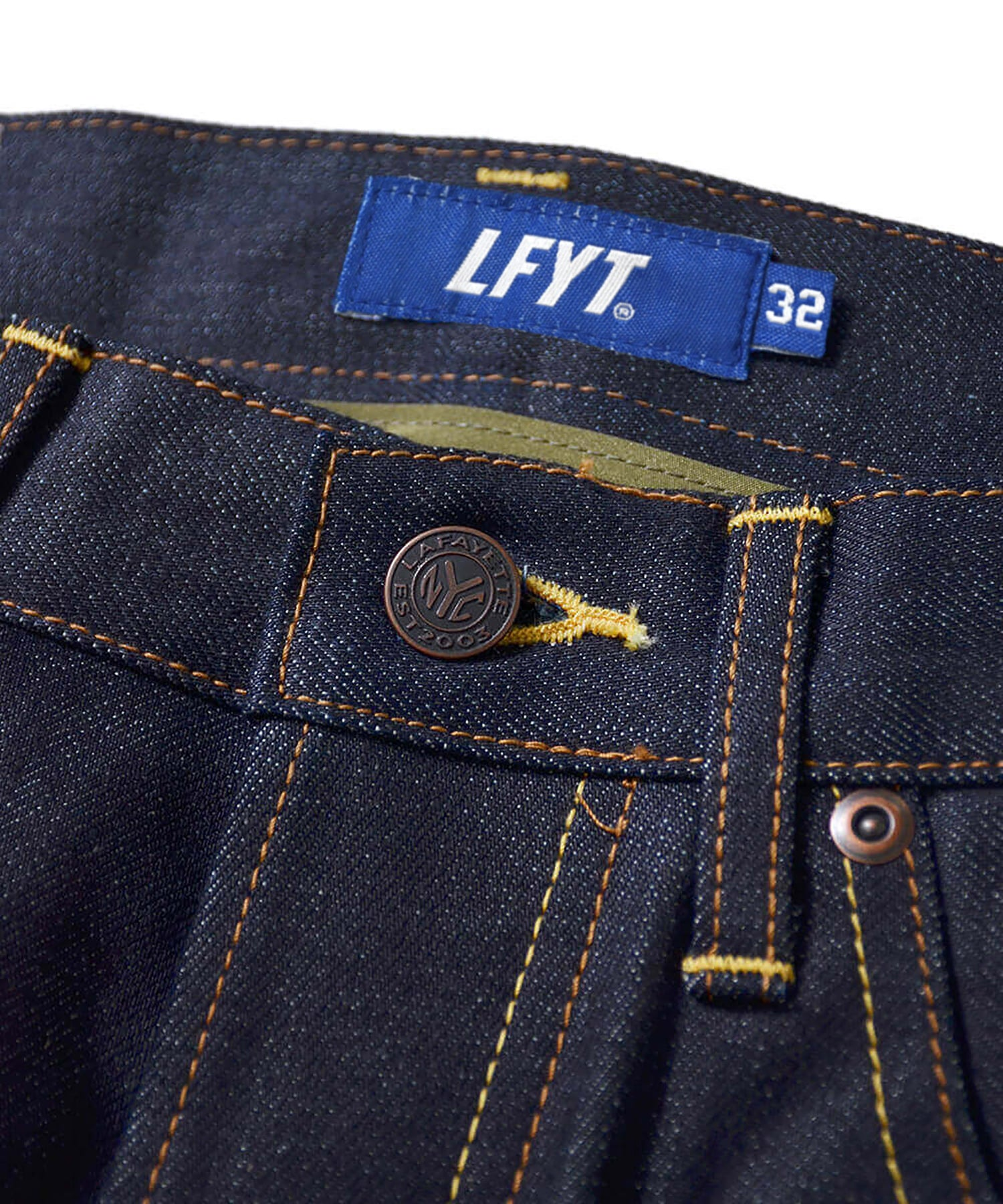 LA201101 5 POCKET DENIM PANTS BAGGIE FIT INDIGO