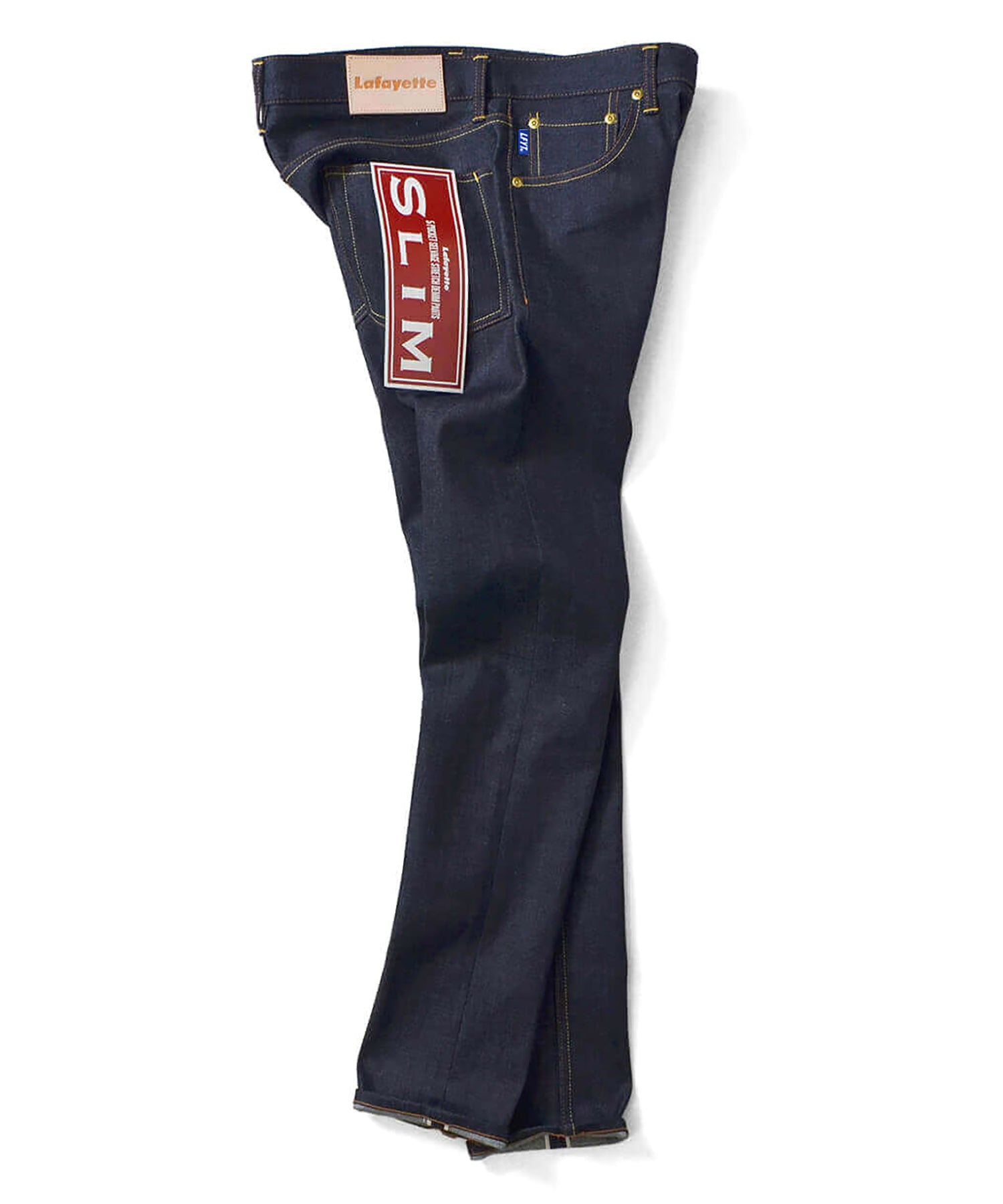 LA201103 5 POCKET SELVAGE STRETCH DENIM PANTS SLIM FIT INDIGO