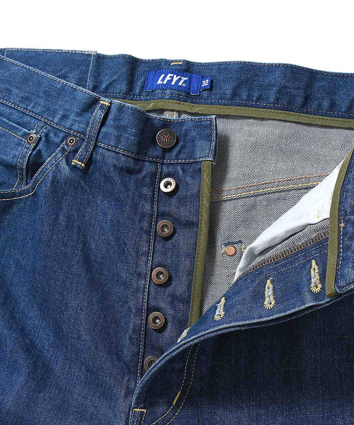5 POCKET WASHED DENIM PANTS BAGGIE FIT BLUE LA201104