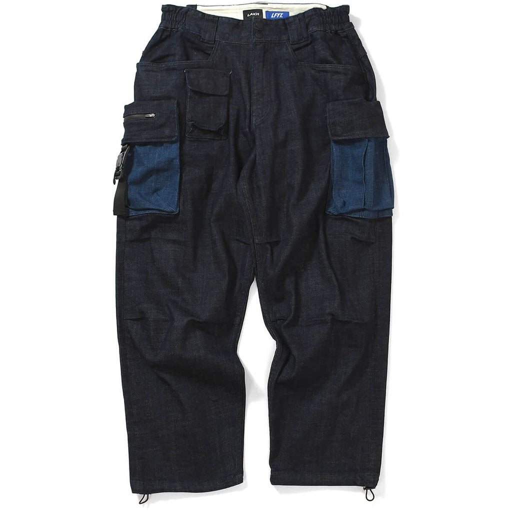 LFYT X LAKH 10 POCKETS DENIM PANTS LE201101  NAVY