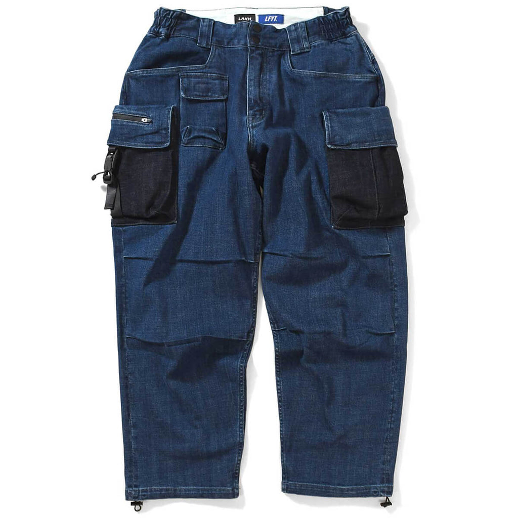 LFYT X LAKH 10 POCKETS DENIM PANTS LE201101 BLUE