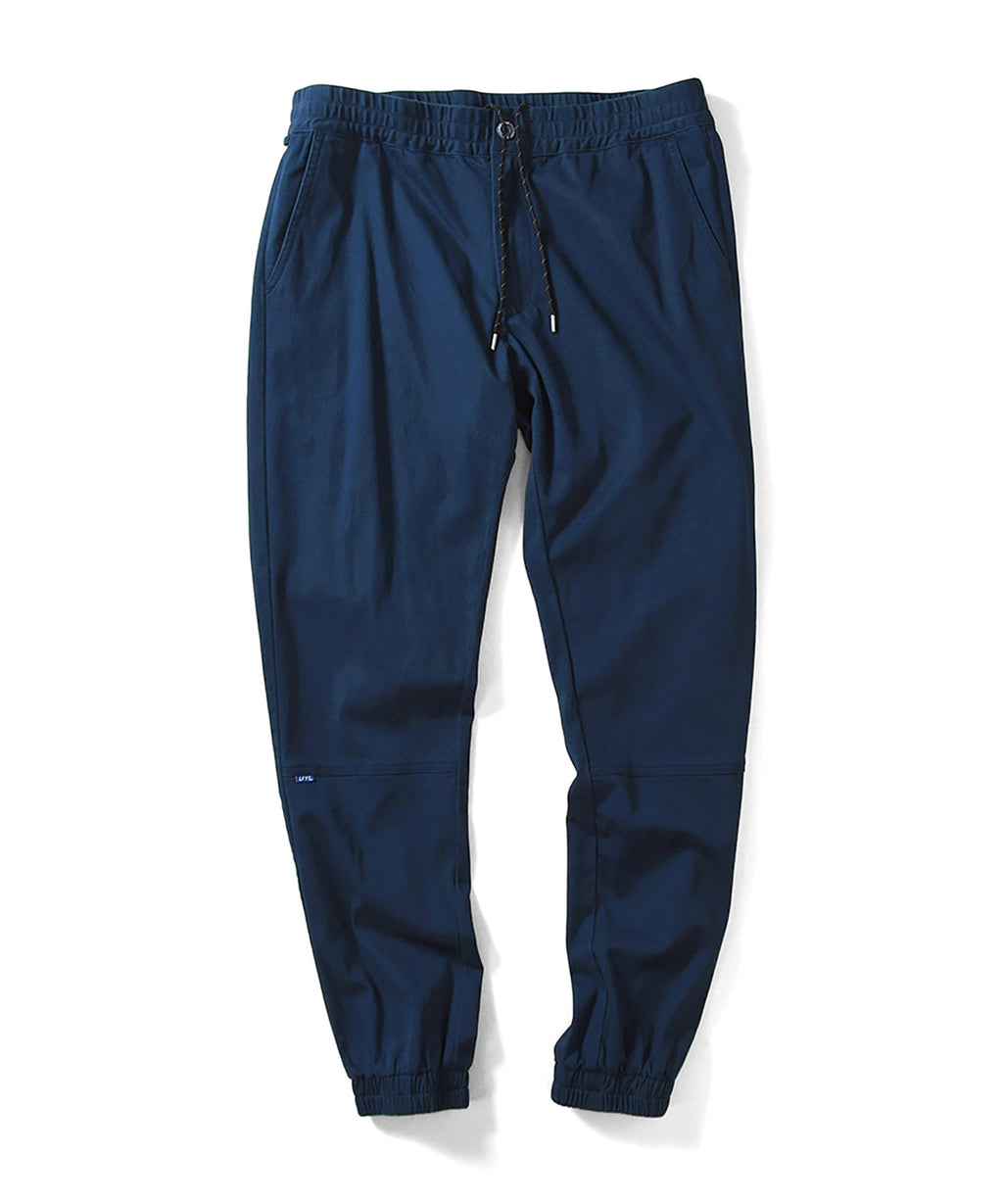 LA201202 STRETCH JOGGER PANTS NAVY