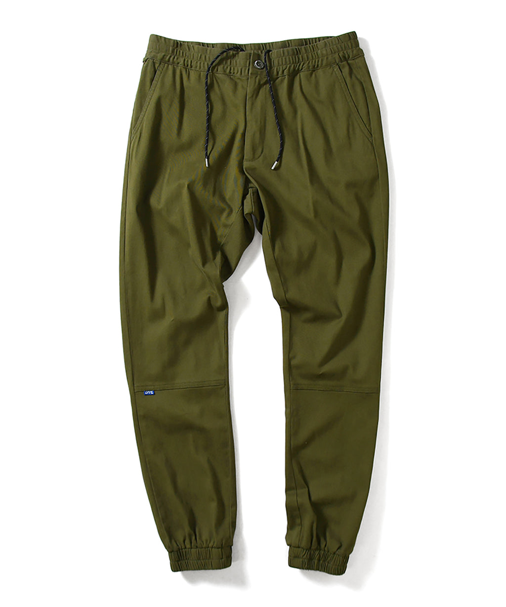 LA201202 STRETCH JOGGER PANTS OLIVE