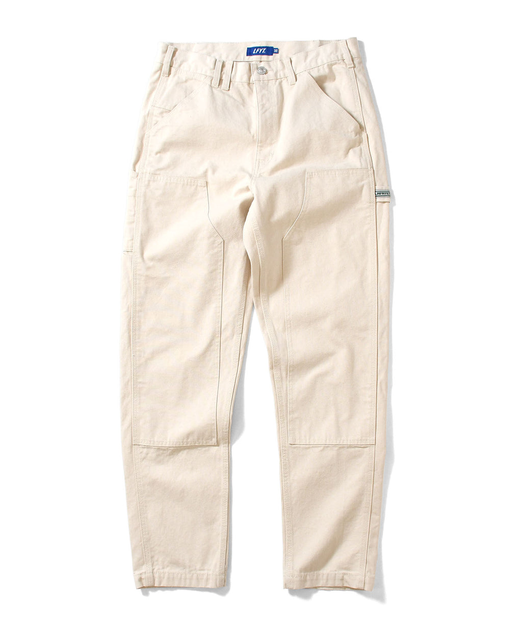 WORKERS DOUBLE KNEE DUCK PAINTER PANTS LA201203 WHITE