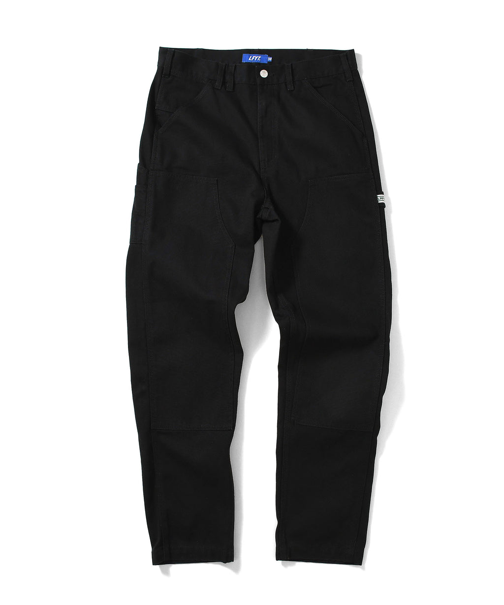 WORKERS DOUBLE KNEE DUCK PAINTER PANTS LA201203 BLACK