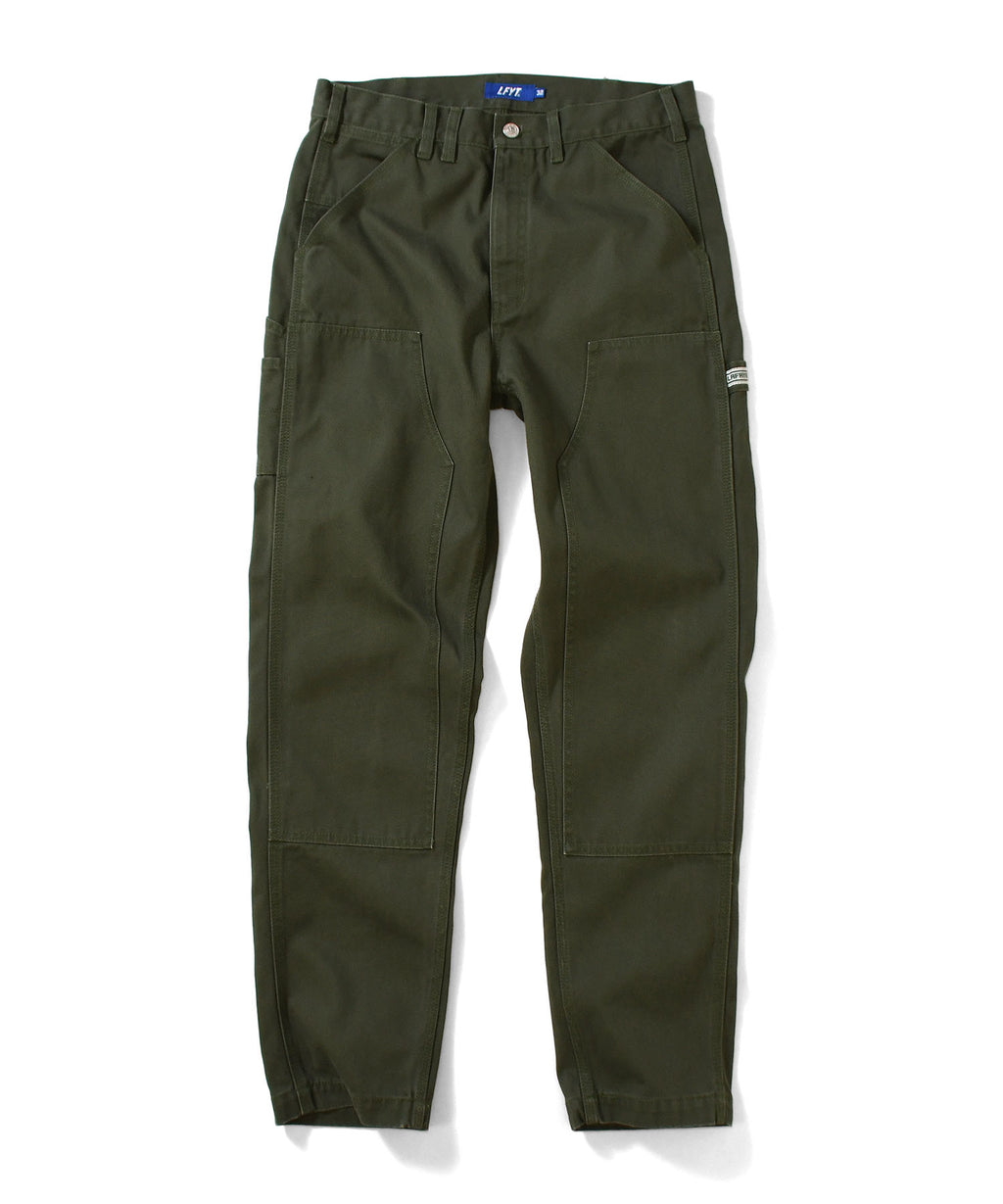 WORKERS DOUBLE KNEE DUCK PAINTER PANTS LA201203  GREEN