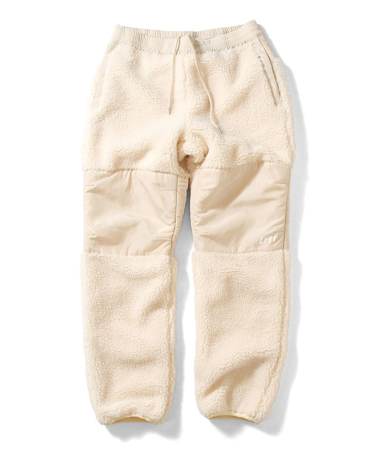 SHERPA FLEECE PANTS LA201206 NATURAL