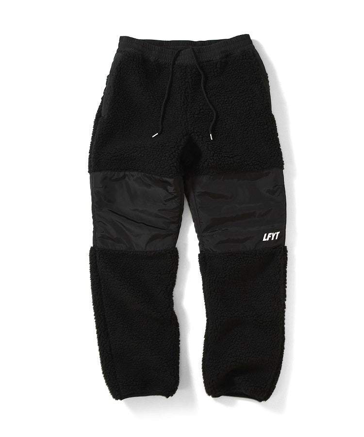 SHERPA FLEECE PANTS LA201206 BLACK