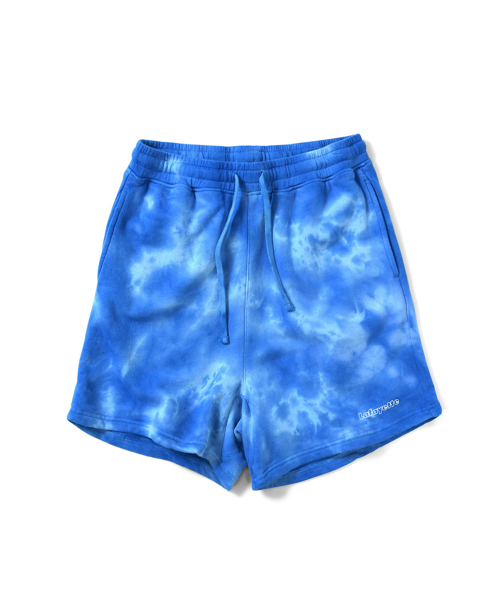 Lafayette OUTLINE LOGO TIE DYED SWEAT SHORTS LS201305 BLUE