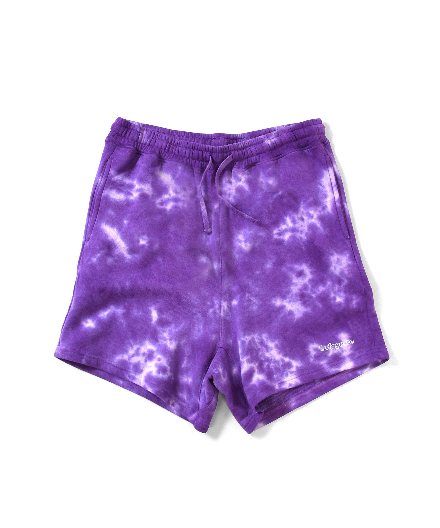 Lafayette OUTLINE LOGO TIE DYED SWEAT SHORTS LS201305 PURPLE