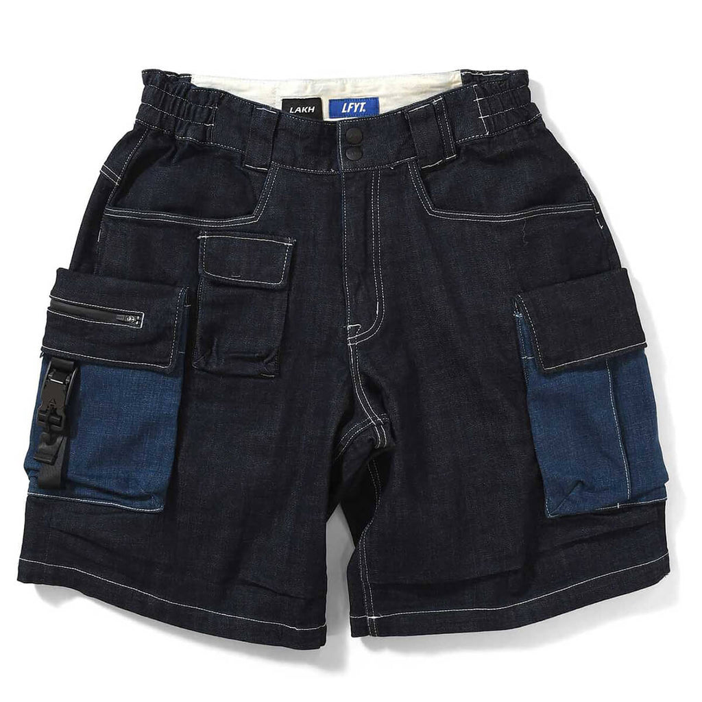 LFYT X LAKH DENIM 10 POCKETS CARGO SHORTS LE201301 NAVY