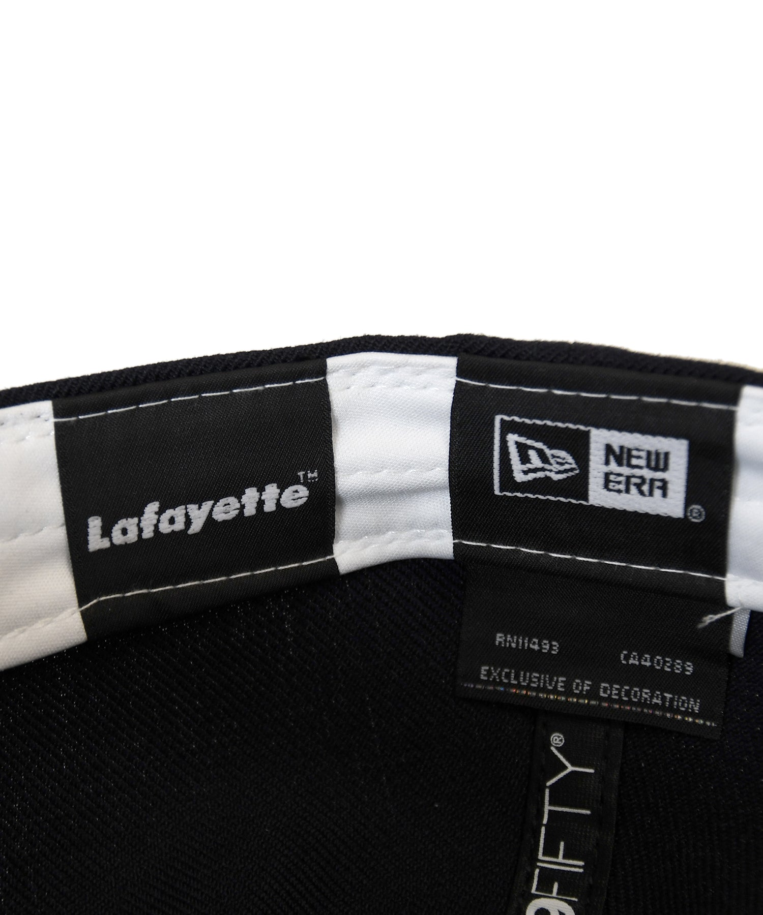 Lafayette × NEW ERA CROSS FLAG LF LOGO 59FIFTY FITTED CAP LS201403 NAVY