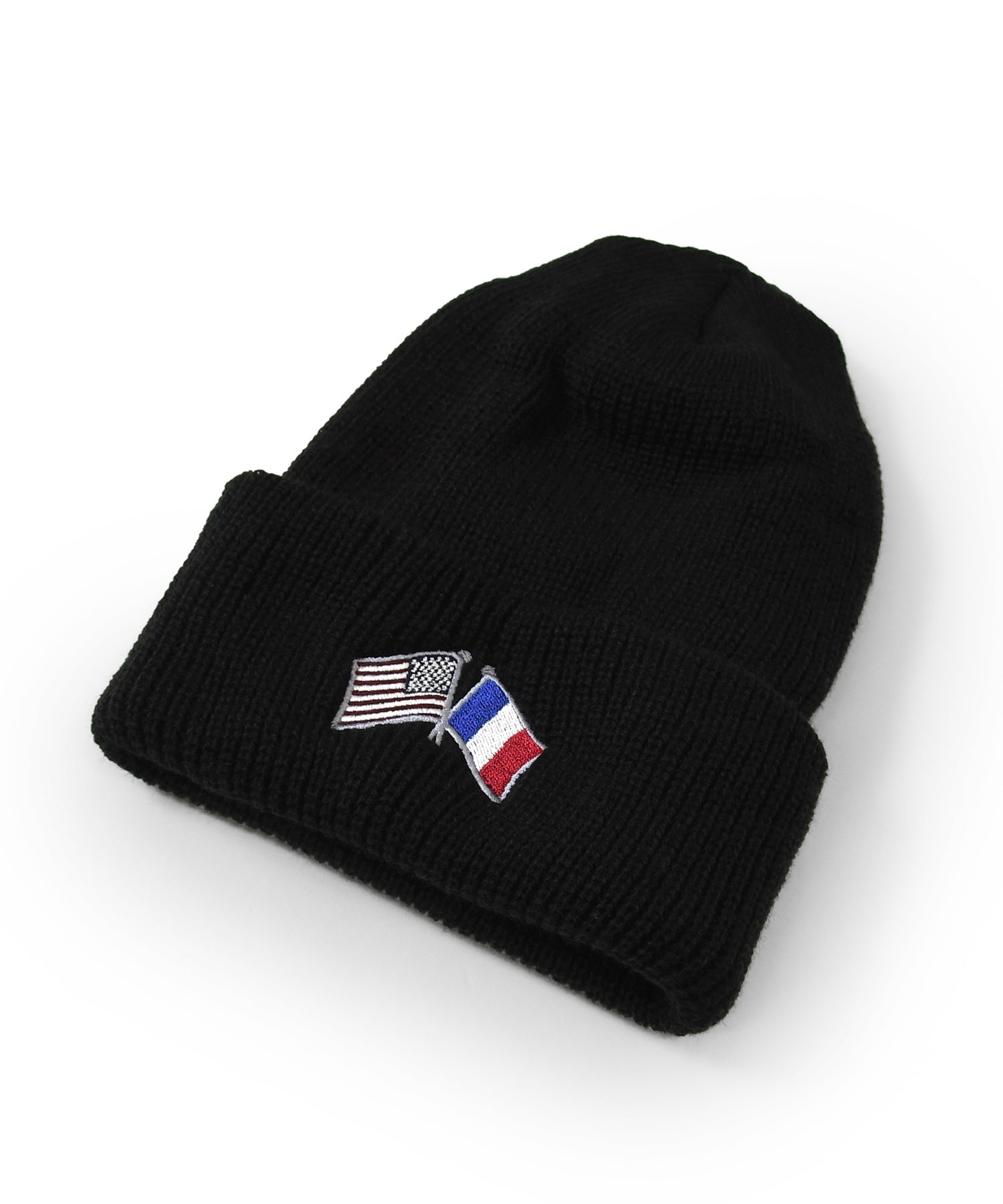 Lafayette CROSS FLAG LONG BEANIE LS201405 BLACK