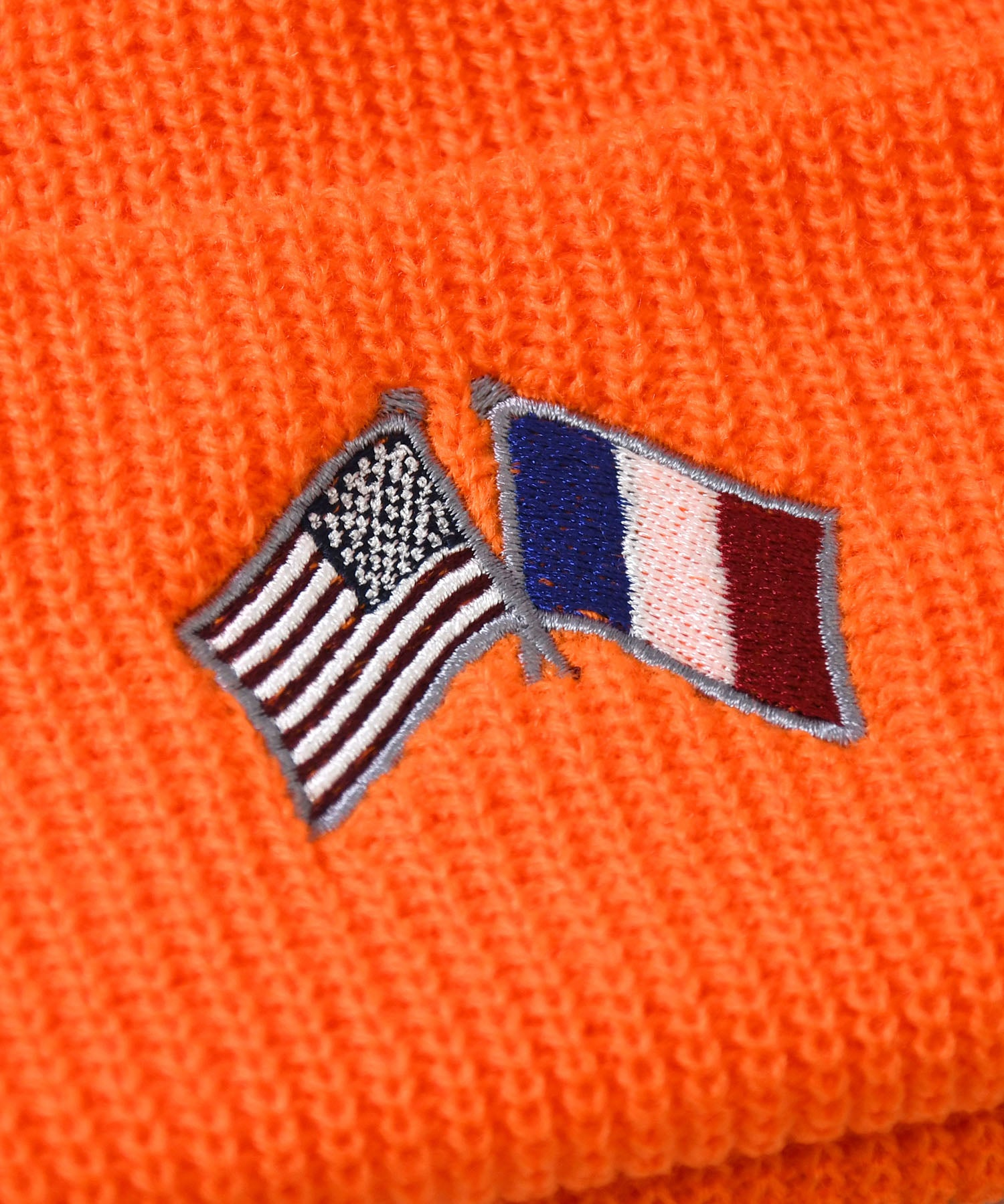 Lafayette CROSS FLAG LONG BEANIE LS201405 ORANGE