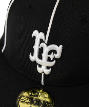 LFYT x NEW ERA PIPING LF LOGO 59FIFTY FITTED CAP BLACK LA201406
