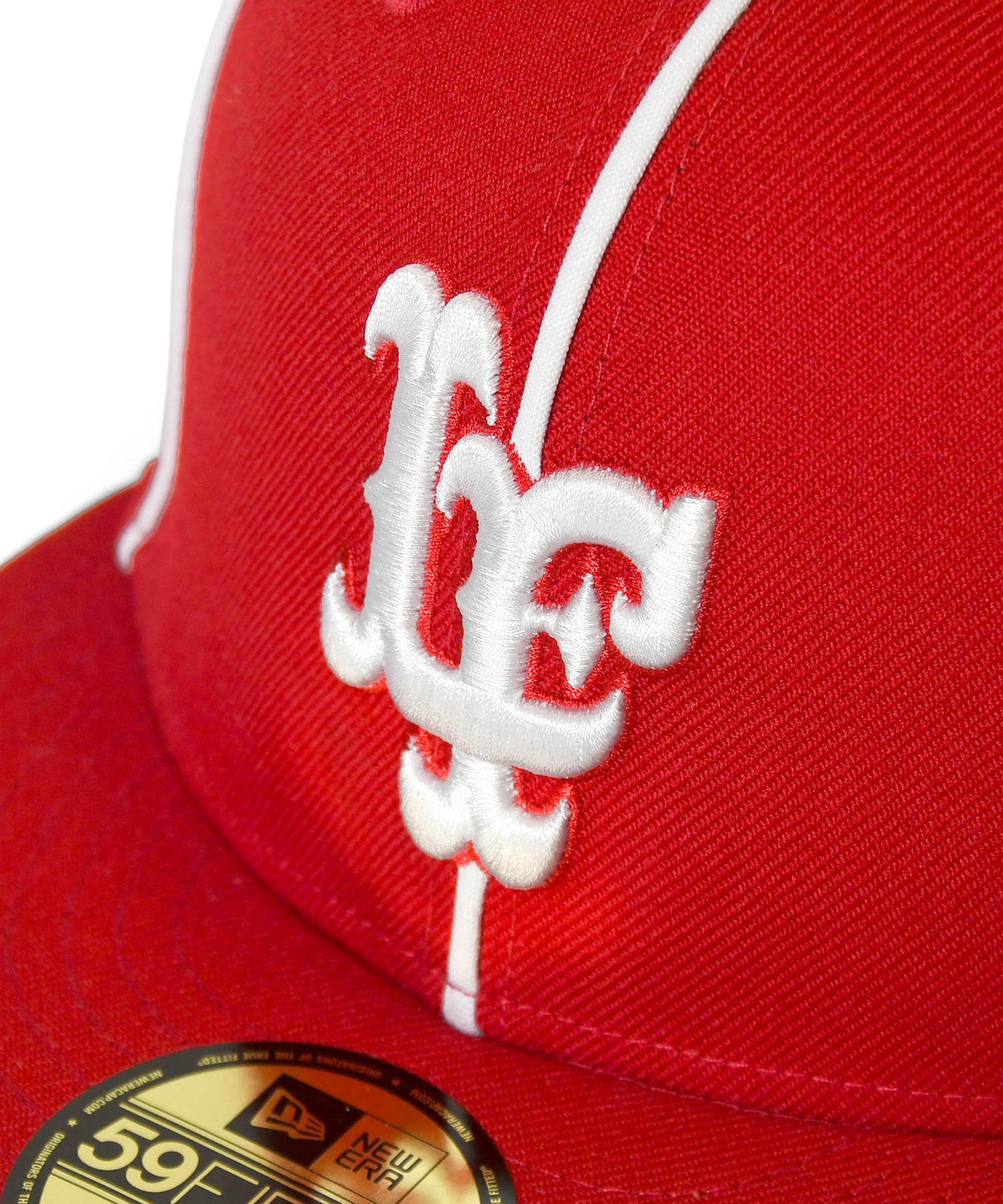 LFYT x NEW ERA PIPING LF LOGO 59FIFTY FITTED CAP RED LA201406
