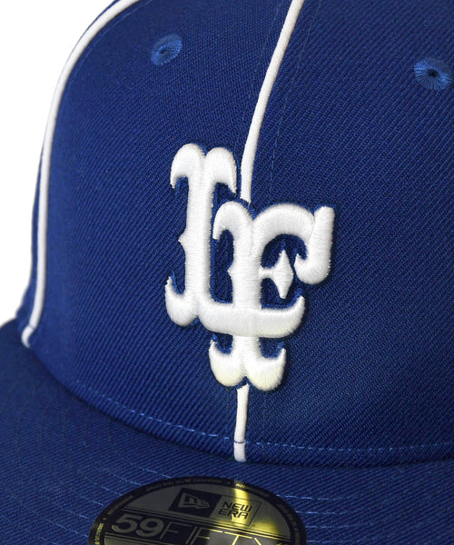 LFYT x NEW ERA PIPING LF LOGO 59FIFTY FITTED CAP BLUE LA201406
