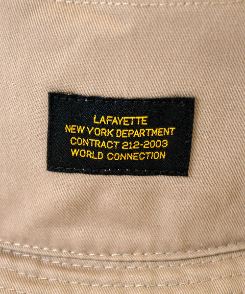 MILITARY LABEL BUCKET HAT BEIGE LA201408