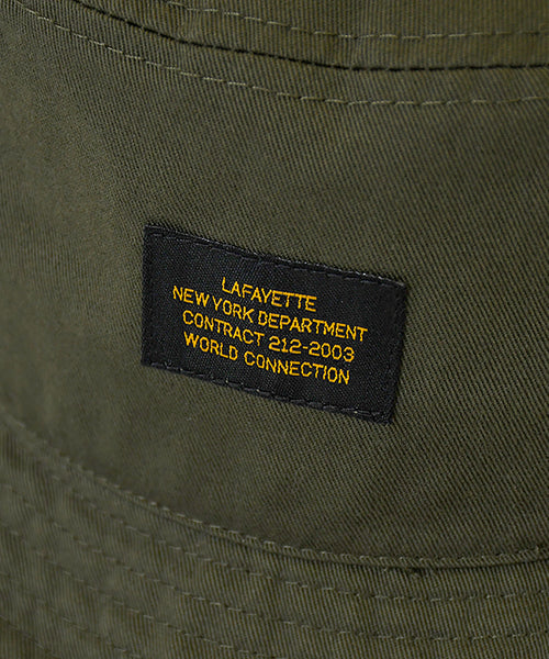 MILITARY LABEL BUCKET HAT OLIVE LA201408