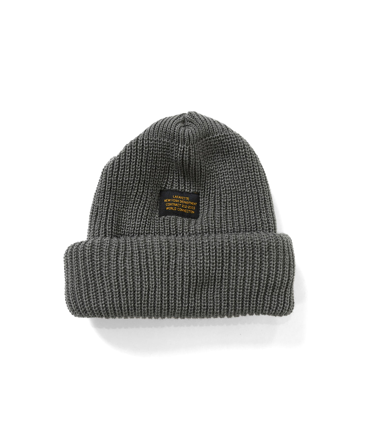 MILITARY LABEL BEANIE GRAY LA201409