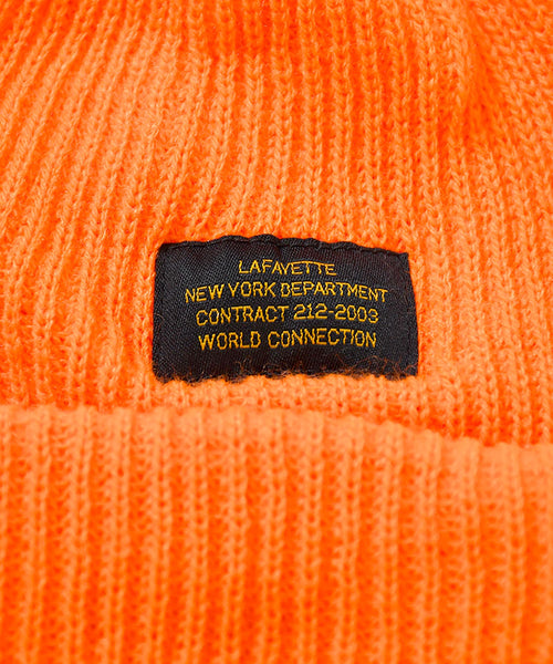 MILITARY LABEL BEANIE ORANGE LA201409