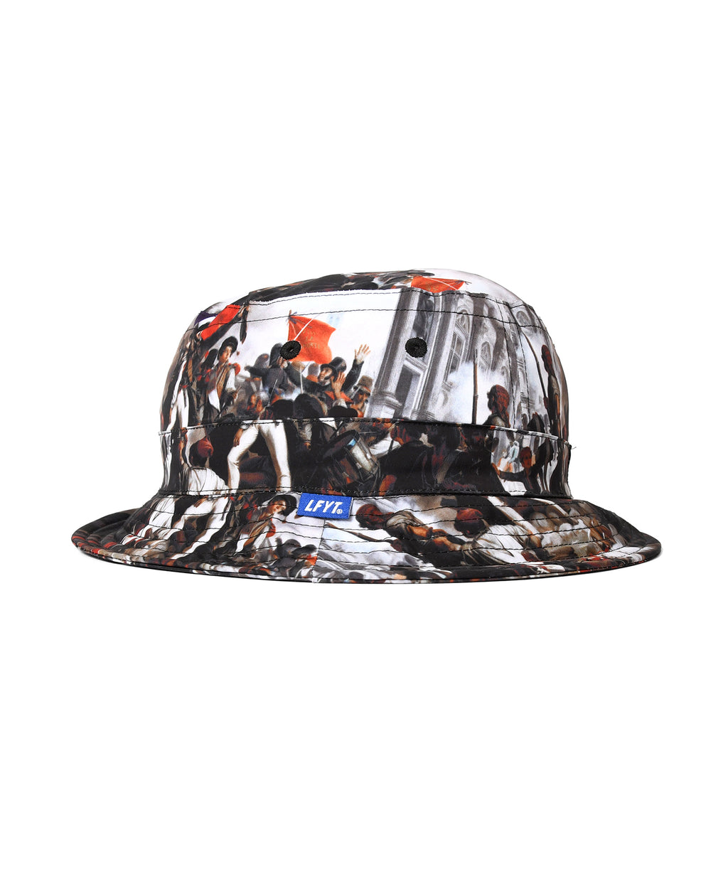 FRENCH REVOLUTION POLYESTER BUCKET HAT LS211401 BLACK