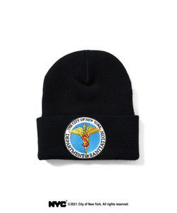 LFYT X DSNY COMMUNITY SERVICES LONG BEANIE LS211404 BLACK